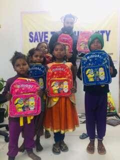 bags distribution save the humanity