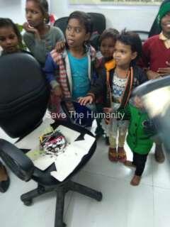 birthday celebration of poor childs