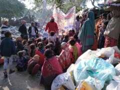 christmas celebration in slum area