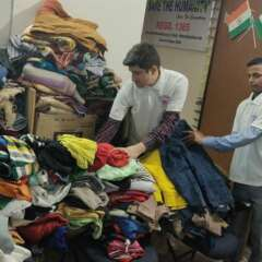 old clothes for distribution