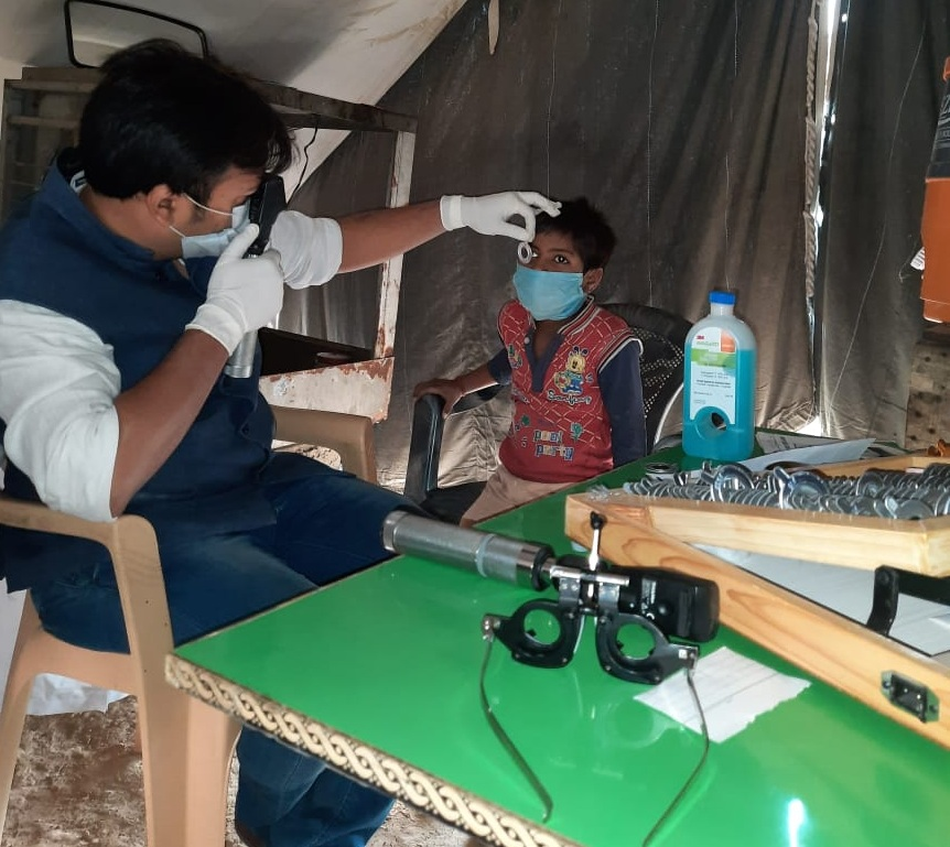 save the humanity eye checkup camp for childrens