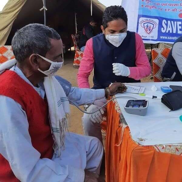 save the humanity free health checkup camp