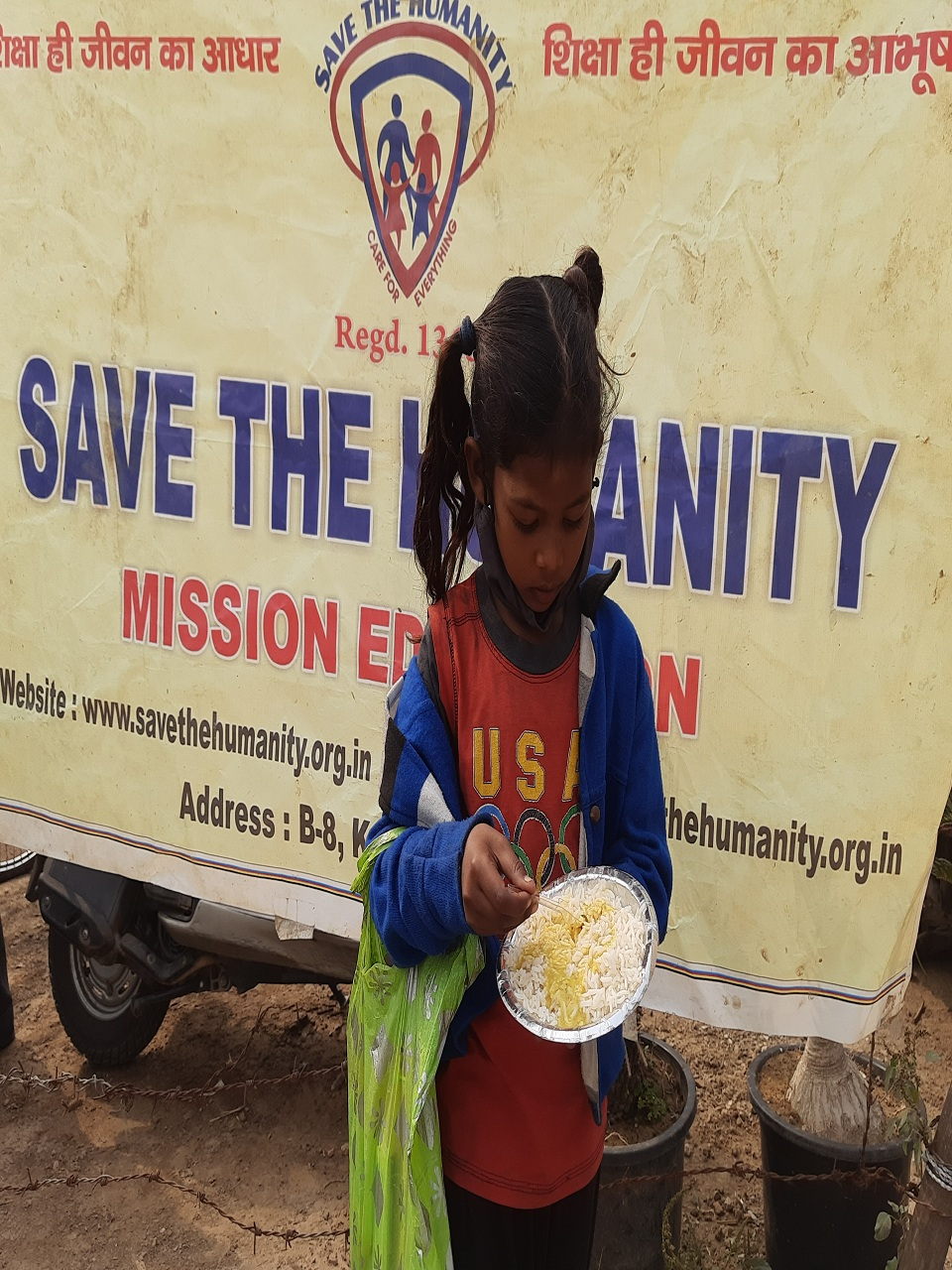 save the humanity mid day meal distribution