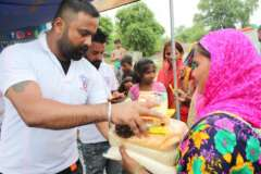 save the humanity row food for distribution in this pandemic